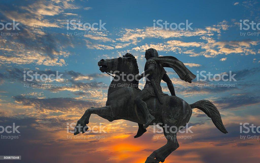 Alexander the Great ,Thessaloniki city,Greece stock photo
