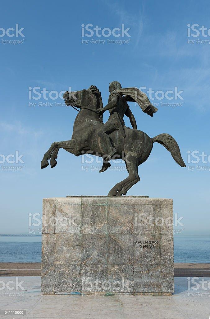 Alexander The Great - Thessaloniki stock photo