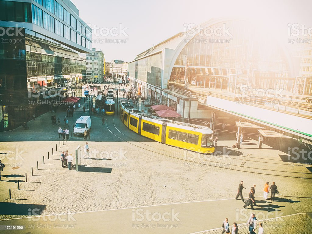 Alexanderplatz Berlin without logos stock photo