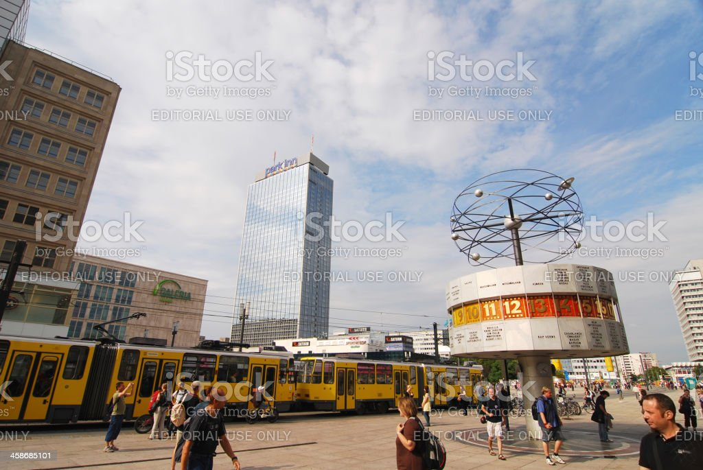 Alexanderplatz in Berlin stock photo