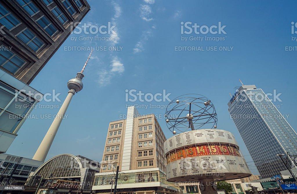 Alexanderplatz in Berlin stock photo