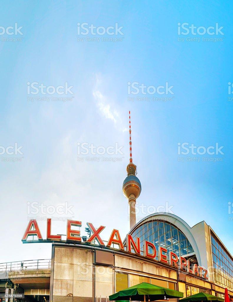 Alexanderplatz subway station in Berlin stock photo