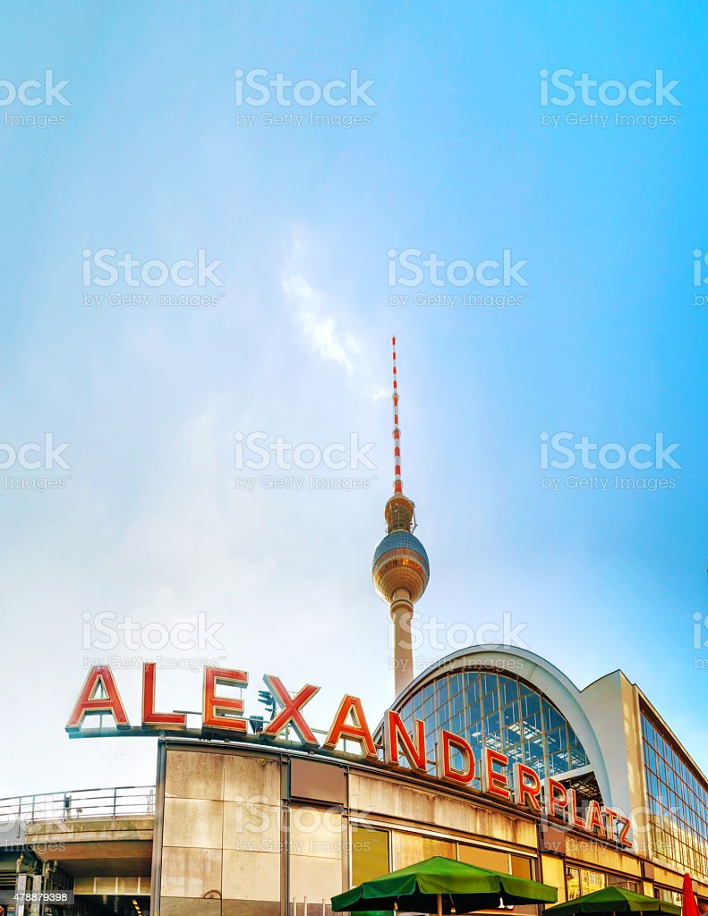 Alexanderplatz subway station in Berlin stock photo