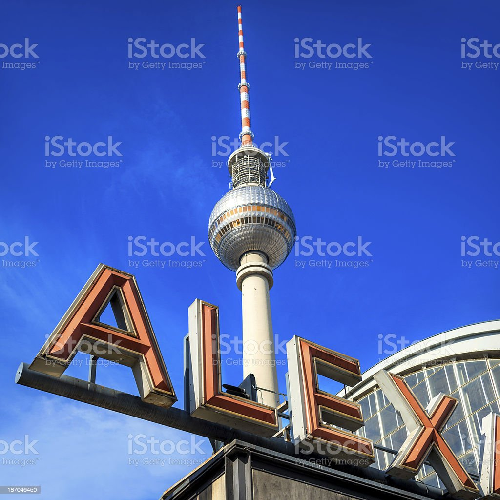 Alexanderplatz Train Station, Berlin royalty-free stock photo