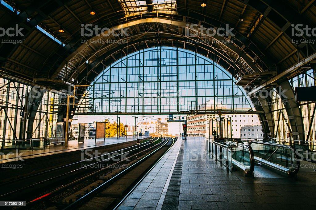 Alexanderplatz train station stock photo