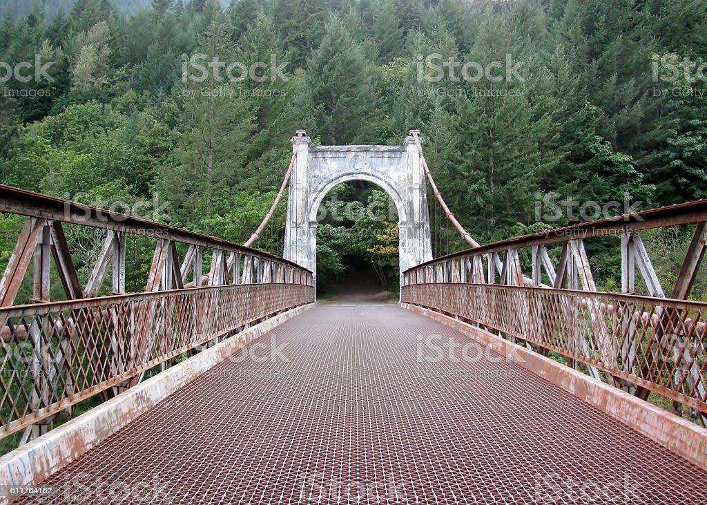 Alexandra Bridge in Fraser Canyon. BC, Canada stock photo