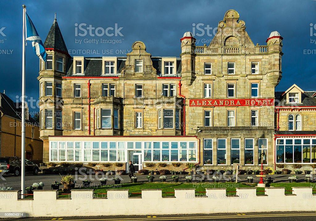 Alexandra Hotel in Oban stock photo