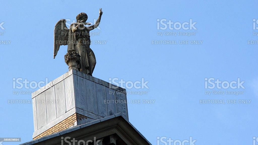 Alexandra Palace Angel Statue Ceres stock photo