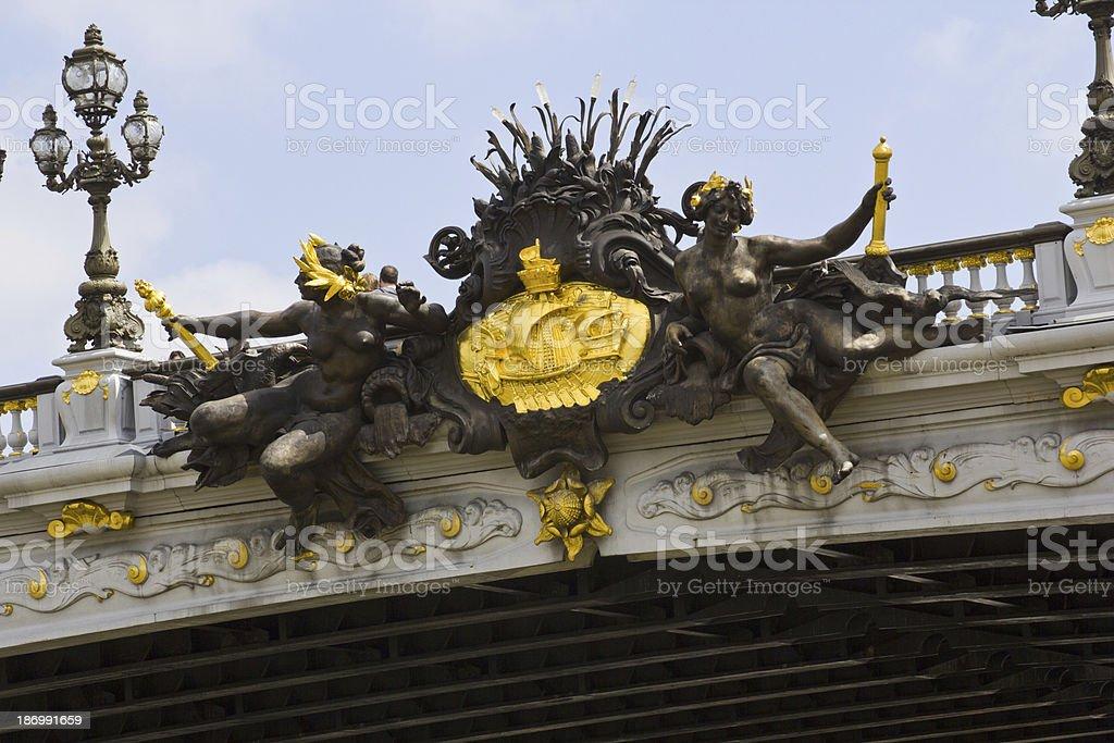 Alexandre 3 Bridge - Paris royalty-free stock photo