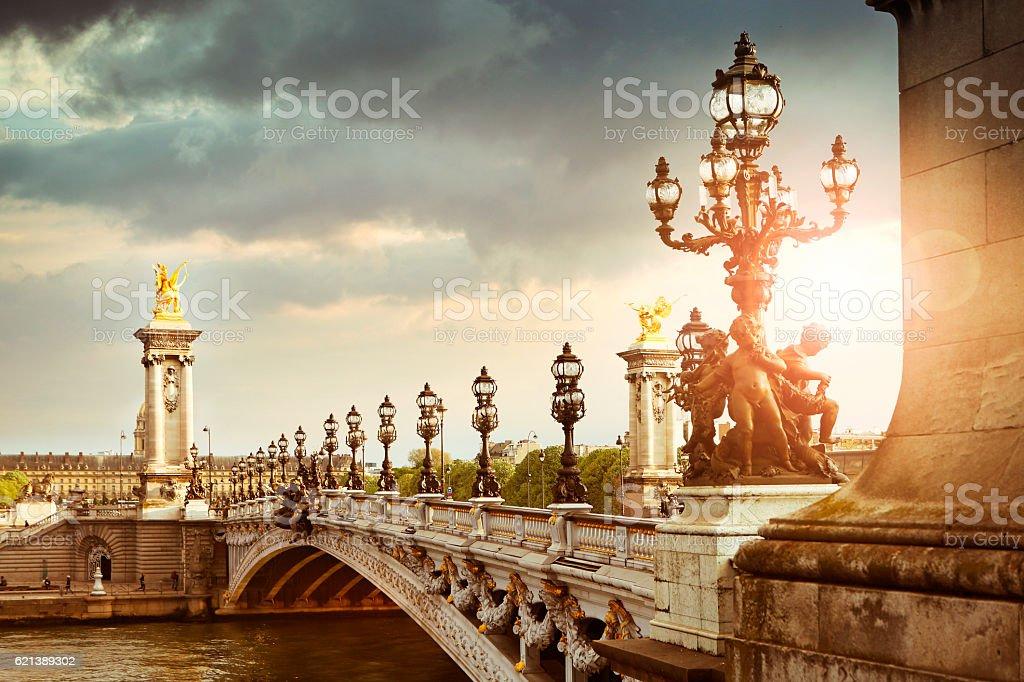 Alexandre III Bridge in Paris stock photo