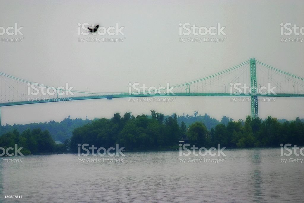 Alexandria Bay New York 1000 Islands Bridge stock photo