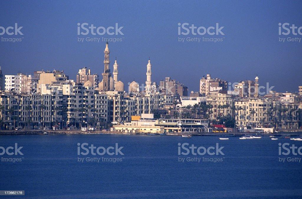 Alexandria city skyline during the day stock photo