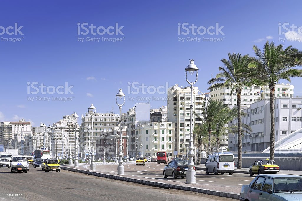 Alexandria city , urban view, Egypt. stock photo