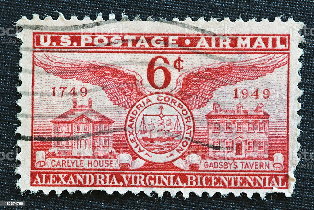 Alexandria, Virginia Bicentennial Stamp stock photo