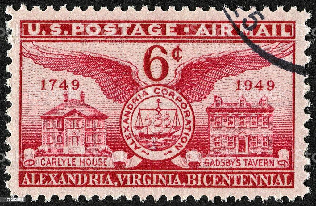 Alexandria, Virginia Stamp stock photo