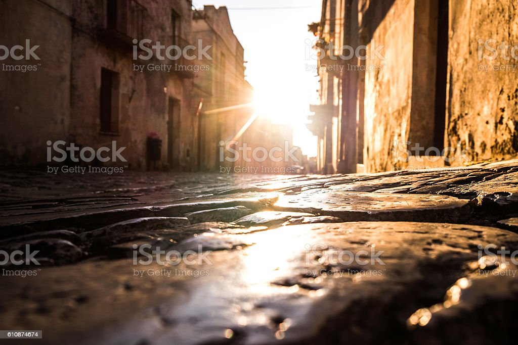 Aleys in Erice - Italy stock photo