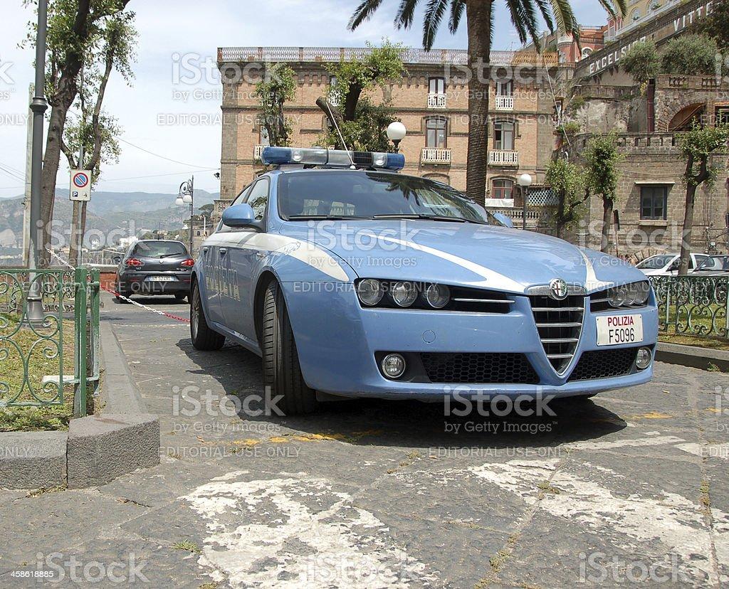 Alfa Romeo 159 police car stock photo