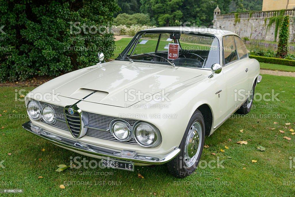 Alfa Romeo 2600 Sprint classic Italian sports car stock photo