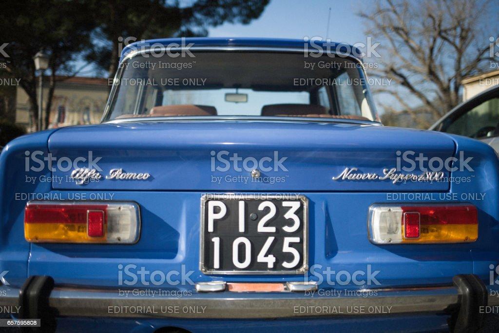 Alfa Romeo Giulia, classic Italian car stock photo