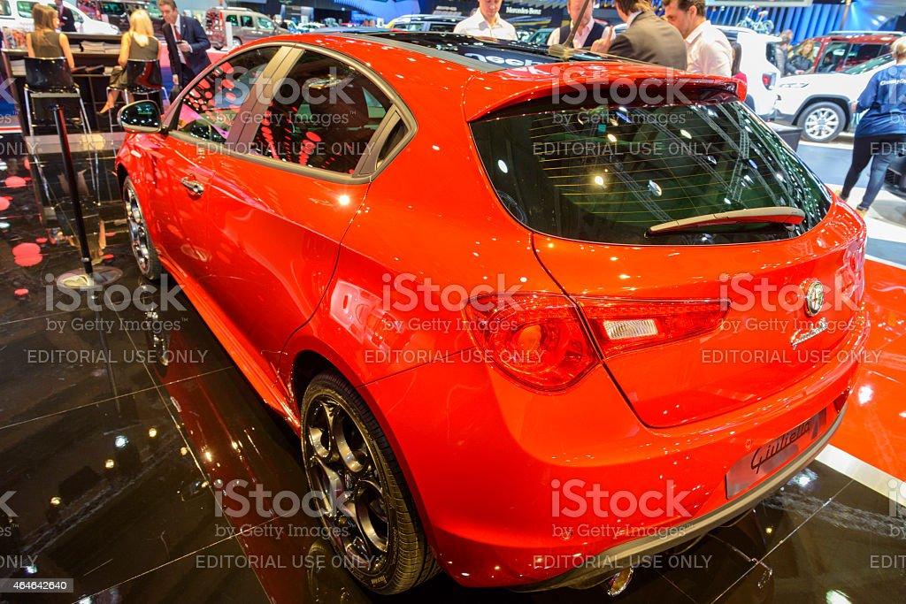 Alfa Romeo Giulietta hatchback car stock photo