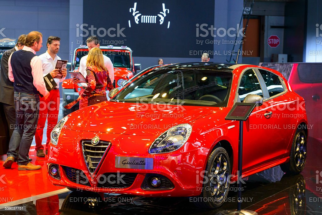 Alfa Romeo Giulietta hatchback car stock photo