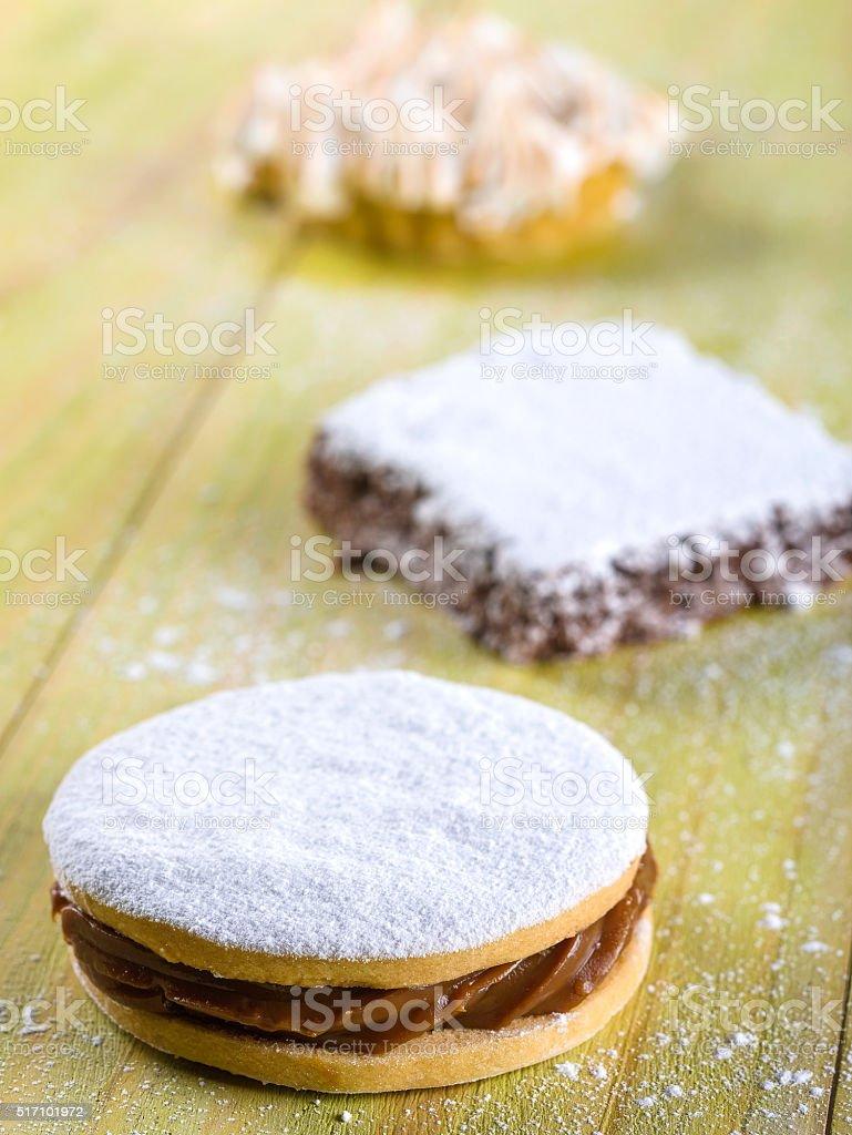 Alfajor Cookie, a typical Peruvian dessert stock photo