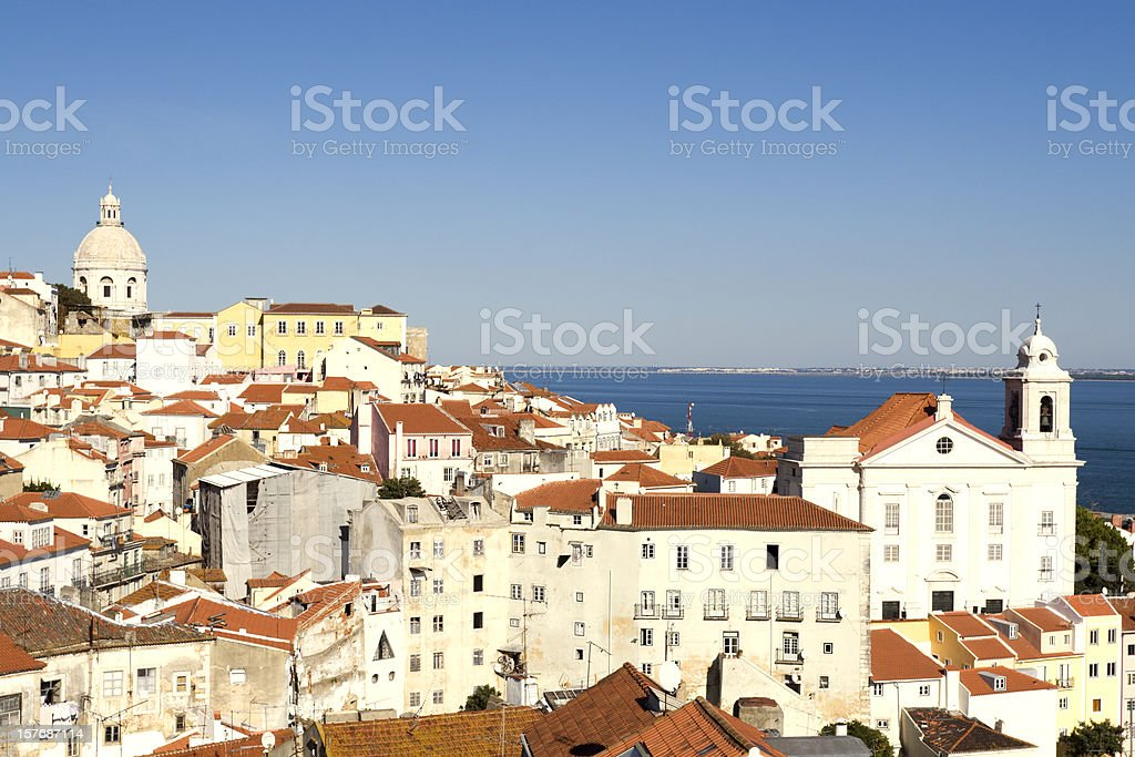 Alfama district of Lisbon on a sunny afternoon royalty-free stock photo