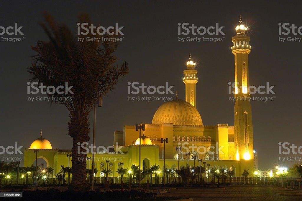 Al-Fateh Grand Mosque in Bahrain stock photo
