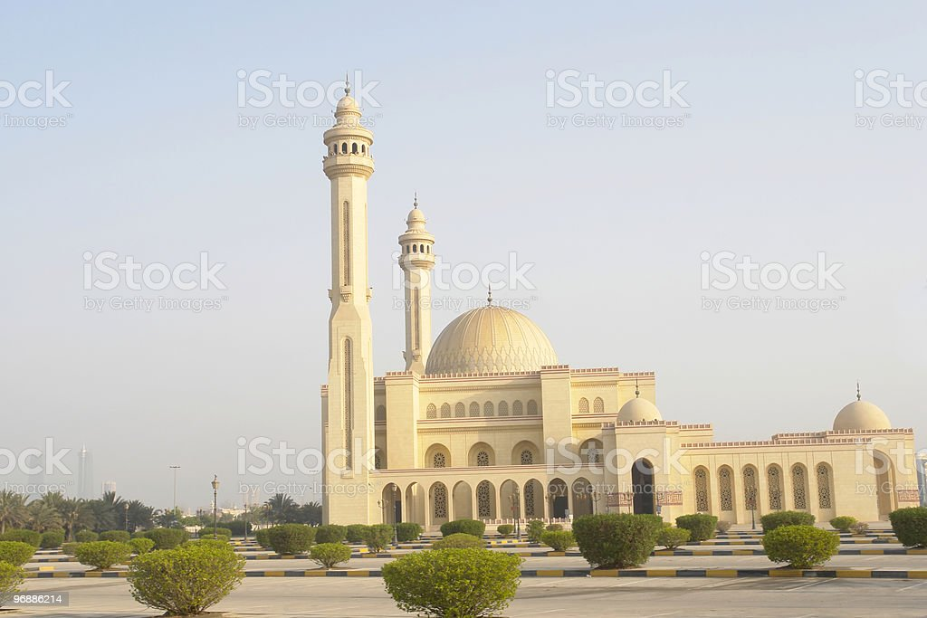 Al-Fateh Grand Mosque in Bahrain royalty-free stock photo