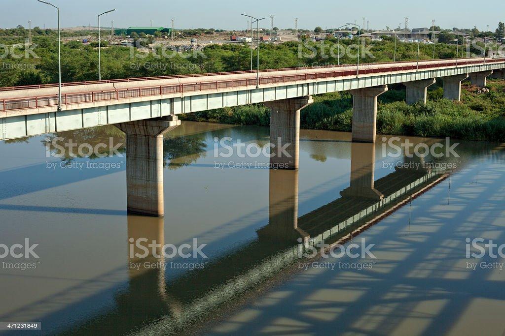Alfred Beit Bridge border Crossing royalty-free stock photo