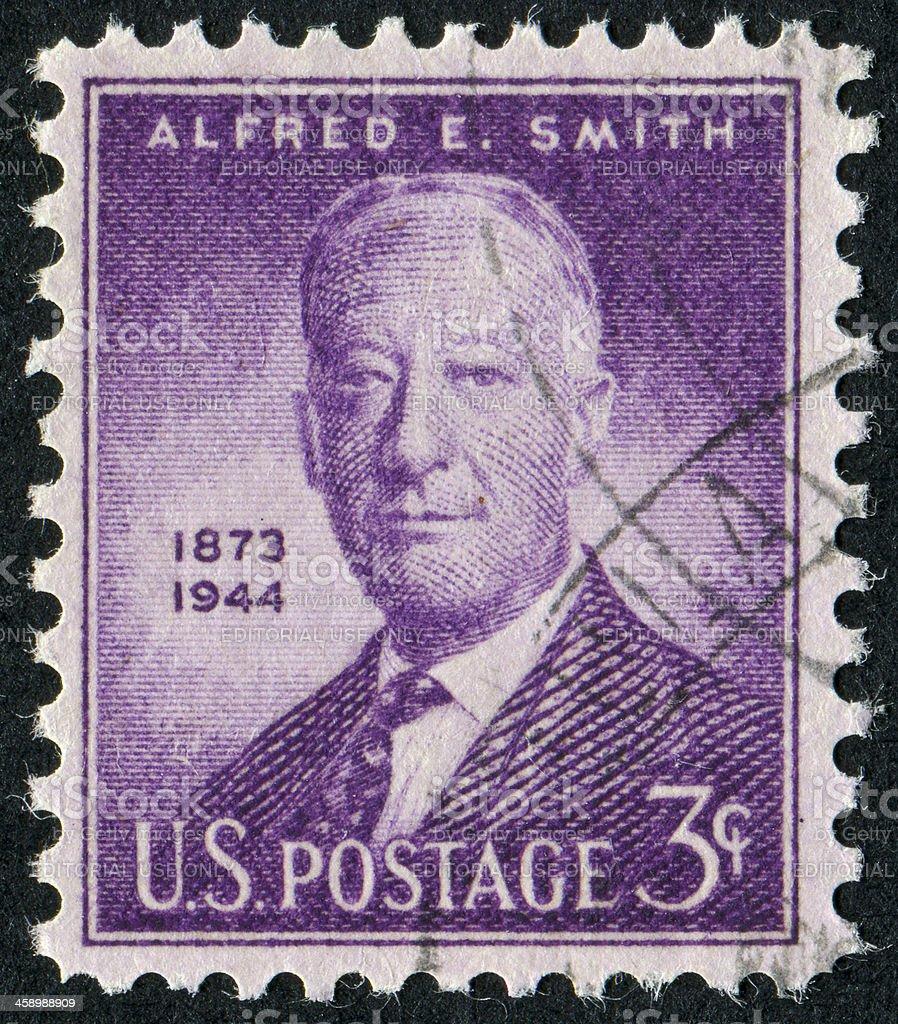 Alfred E. Smith Stamp stock photo