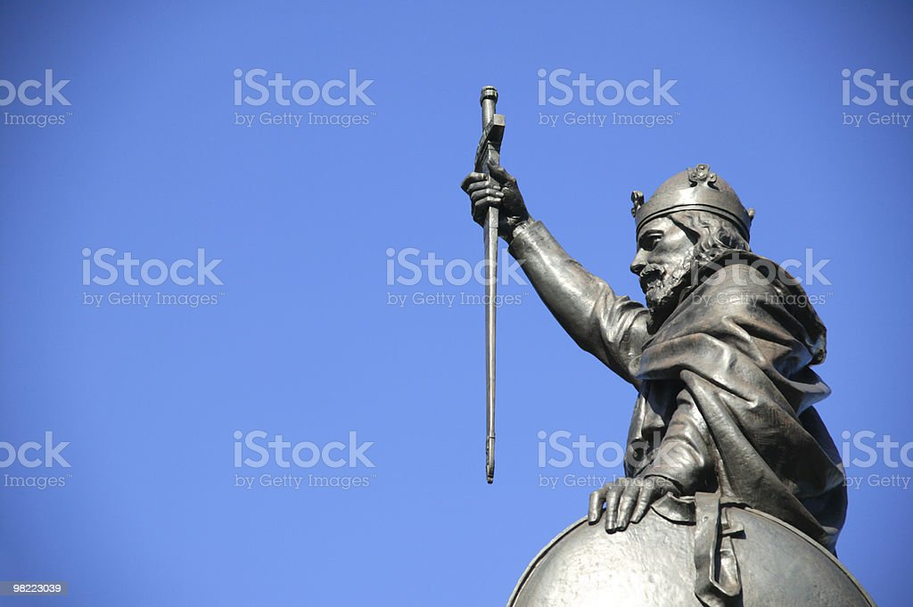 Alfred The Great statue stock photo