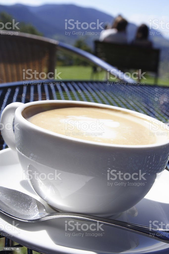 alfresco coffee with a view royalty-free stock photo
