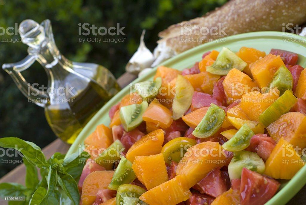 Alfresco Heirloom Tomato Salad royalty-free stock photo