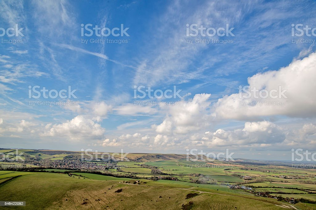Alfriston and The South Downs stock photo