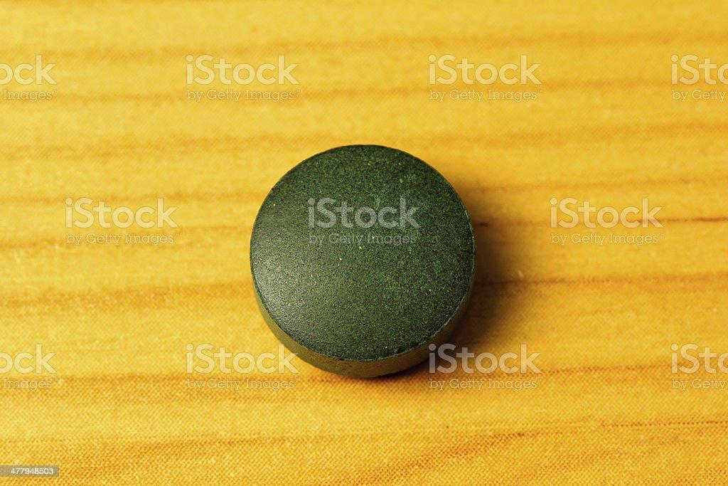 Algae pill royalty-free stock photo