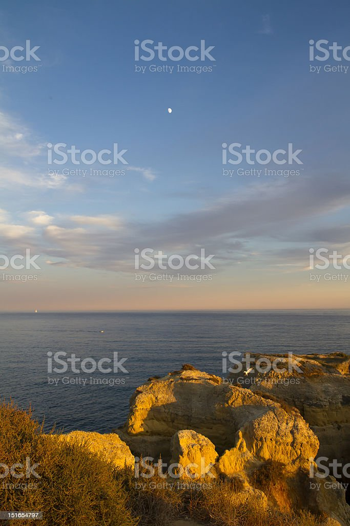 Algarve at the bluehour, Portugal royalty-free stock photo