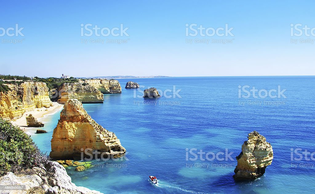 Algarve beach marinha, Portugal stock photo