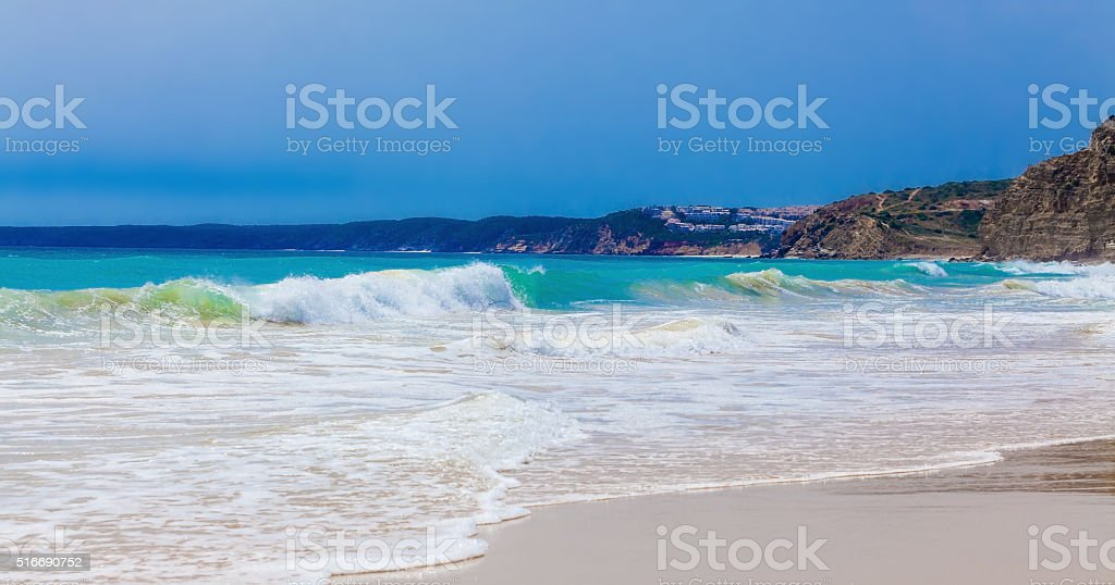 Algarve beach. stock photo