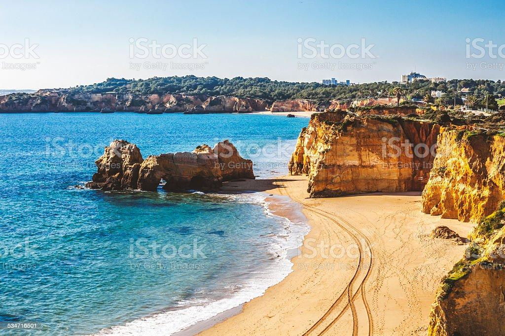 Algarve beaches. stock photo