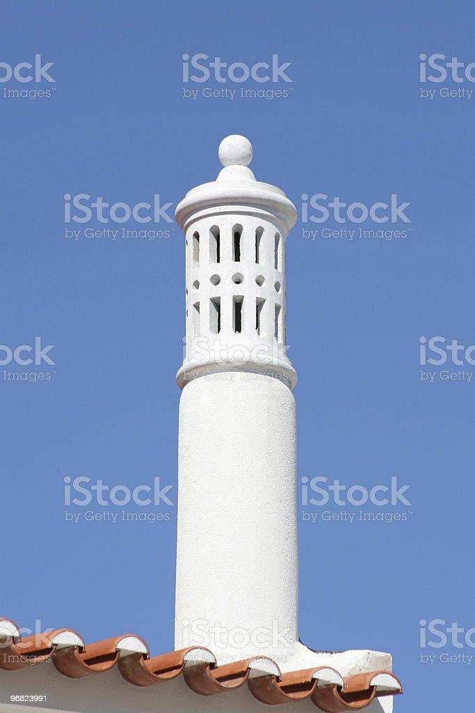 Algarve chimney pot royalty-free stock photo