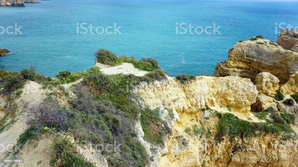 algarve coast stock photo