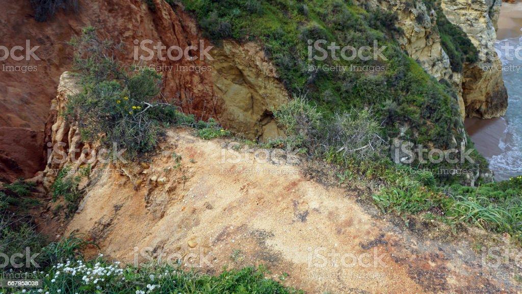 algarve landscape in portugal stock photo