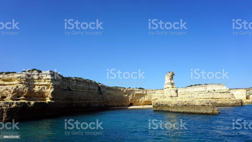 algarve portugal stock photo