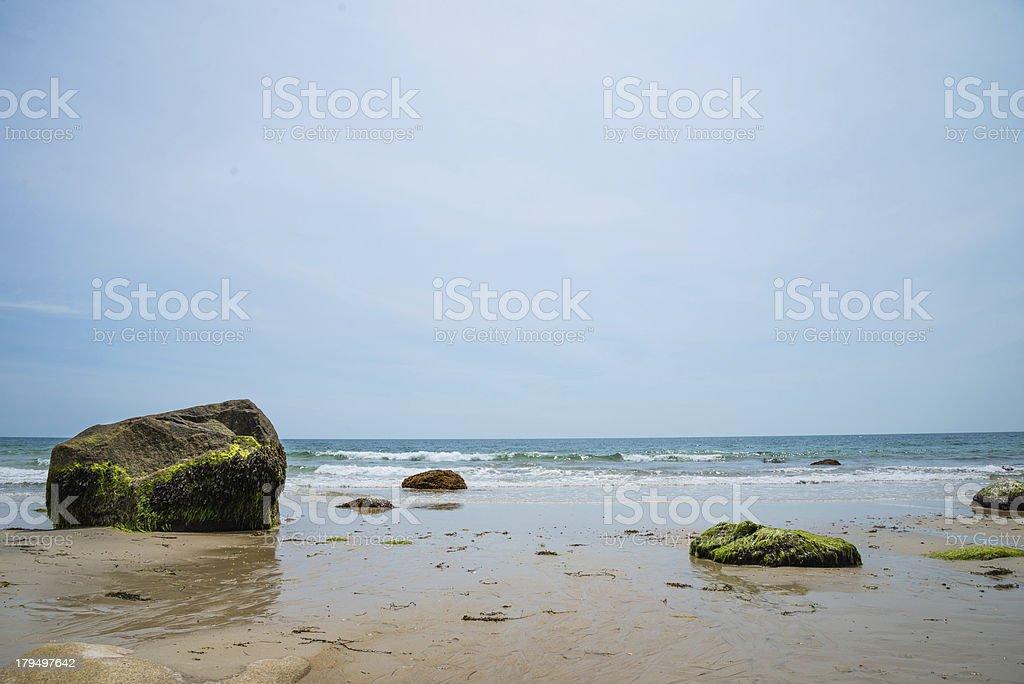 Algea Rocks stock photo