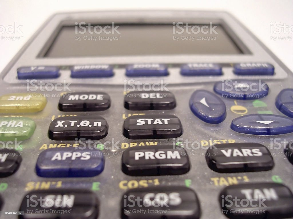 Algebra Calculator royalty-free stock photo