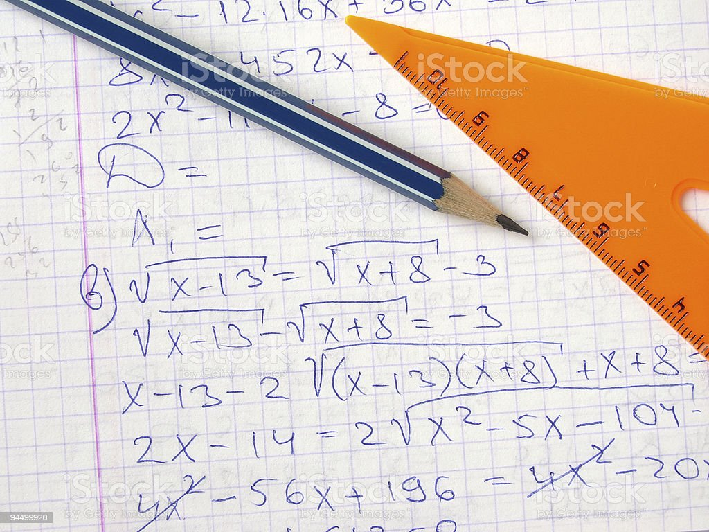 algebra royalty-free stock photo