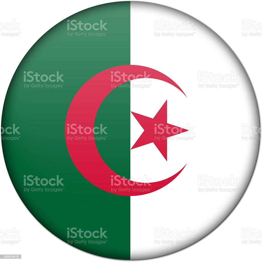 algeria flag badge stock photo