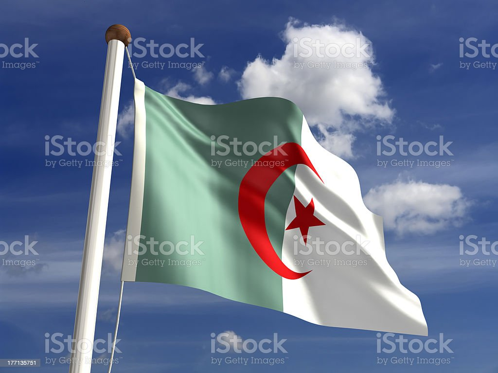 Algeria flag (with clipping path) stock photo
