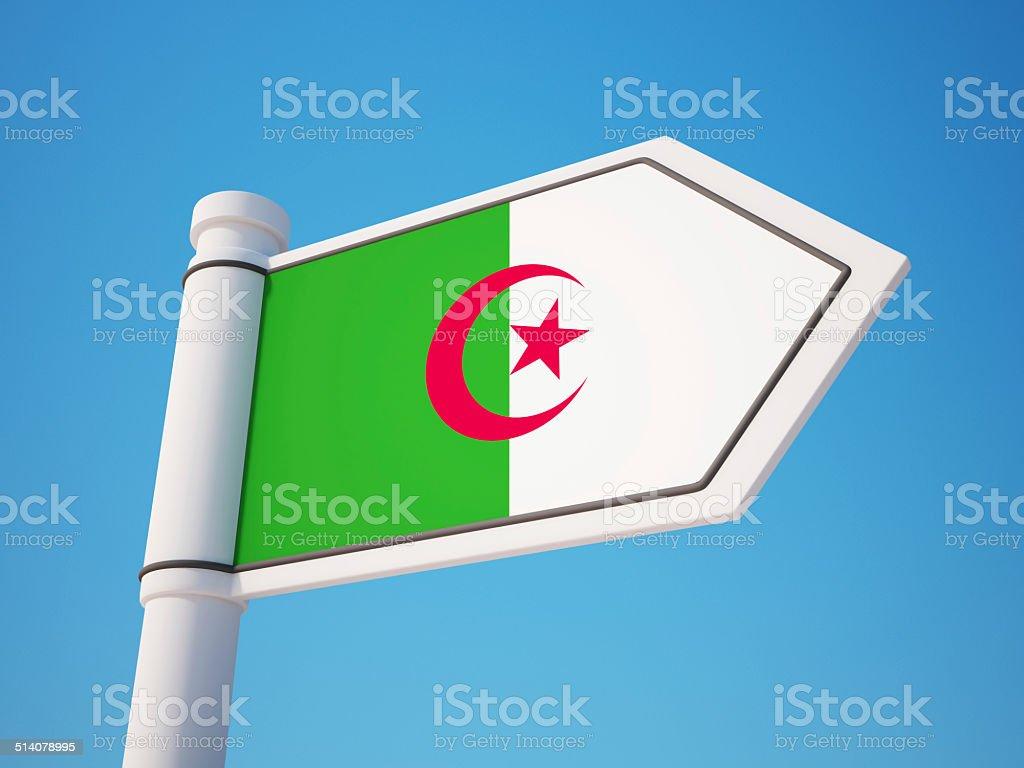 Algeria Flag Sign stock photo